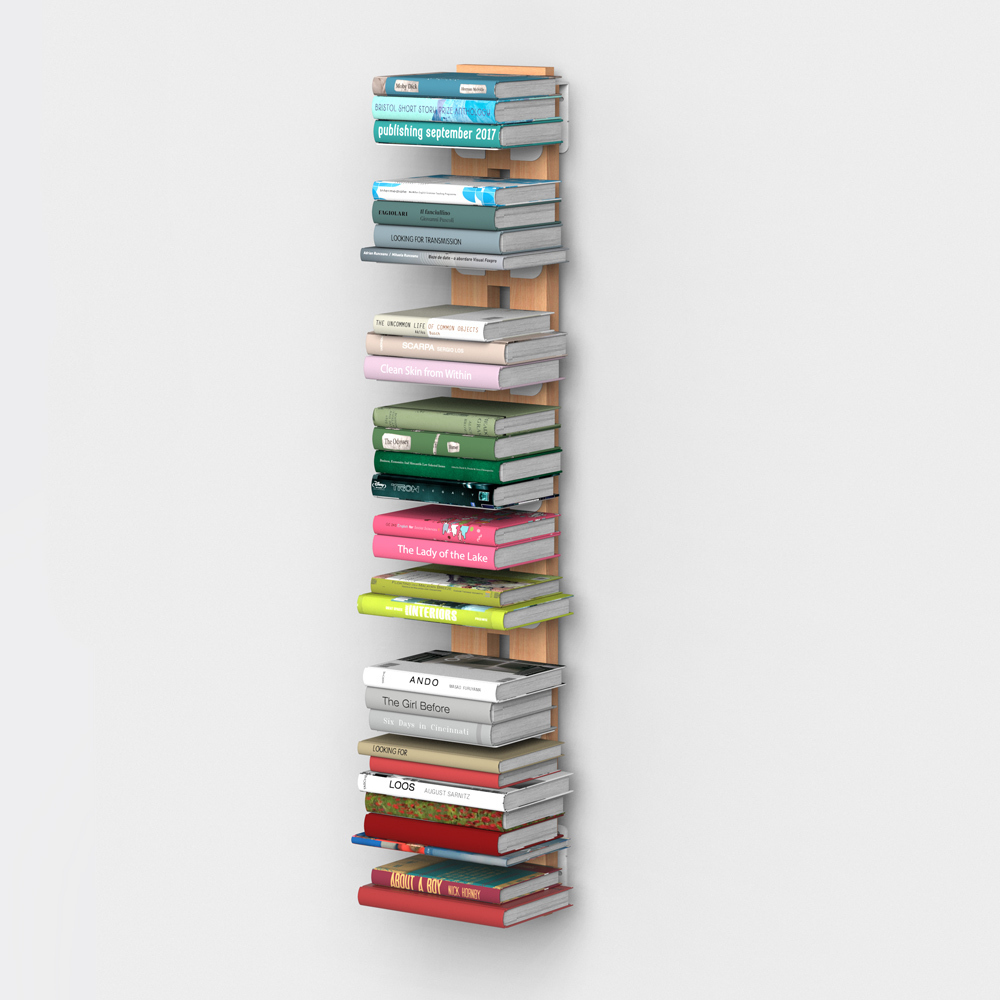 Libreria verticale sospesa in massello di faggio - Libreria carmen ...
