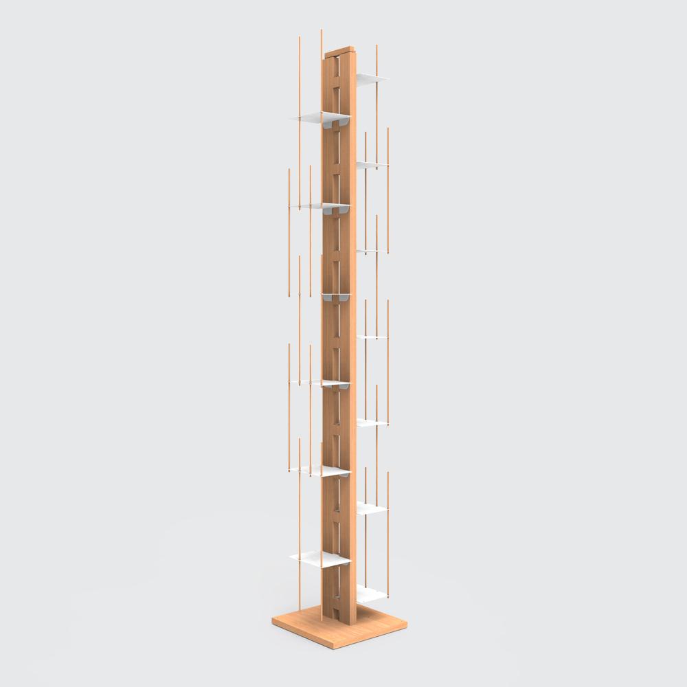 biblioth que vertical colonne en h tre massif. Black Bedroom Furniture Sets. Home Design Ideas