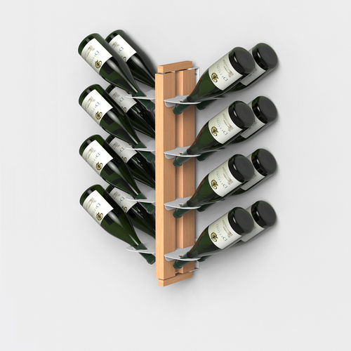 Zia Gaia | Wall hung bottle rack with double front shelves | h 60 cm