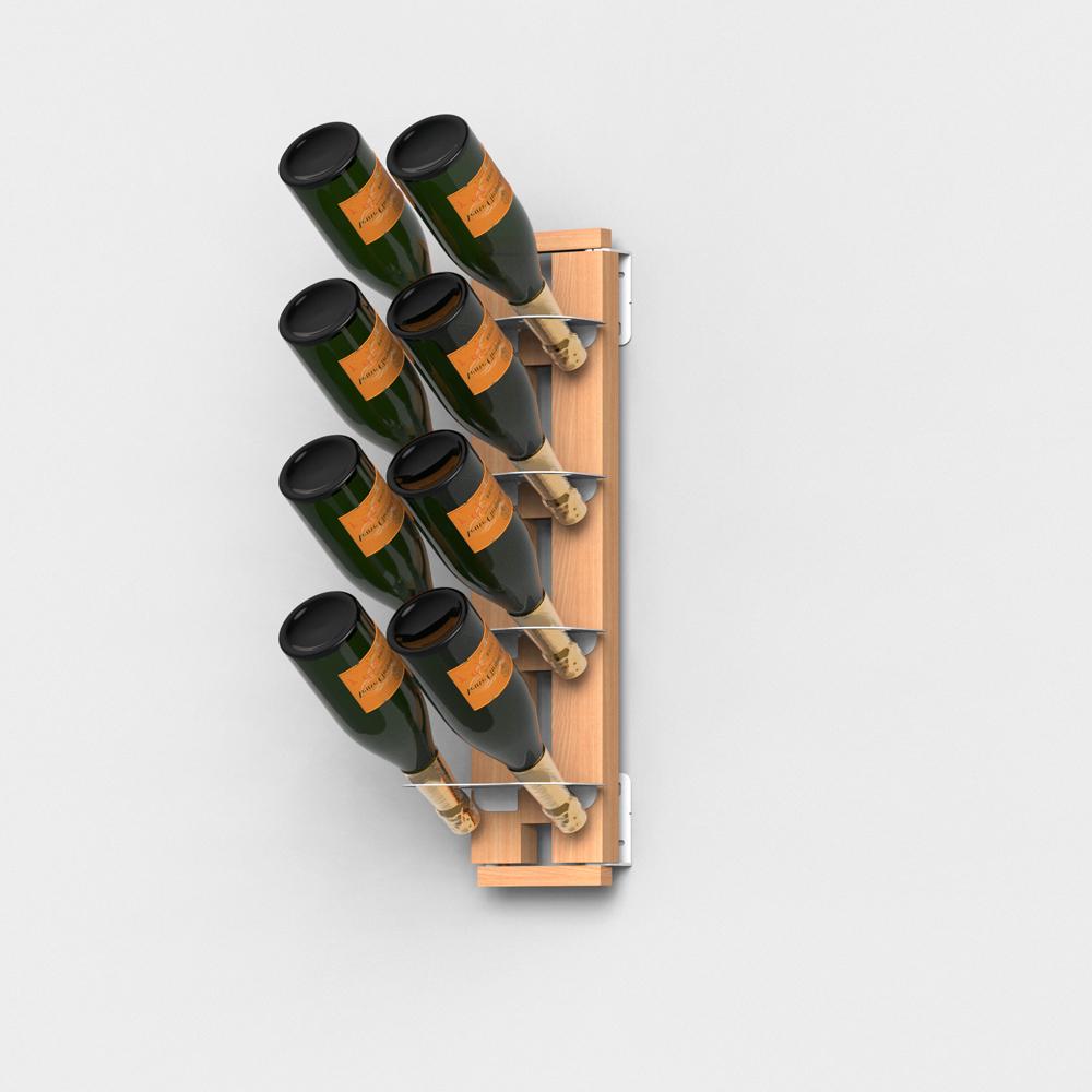 Portabottiglie verticale sospeso in massello di faggio - Oggetti di design in legno ...