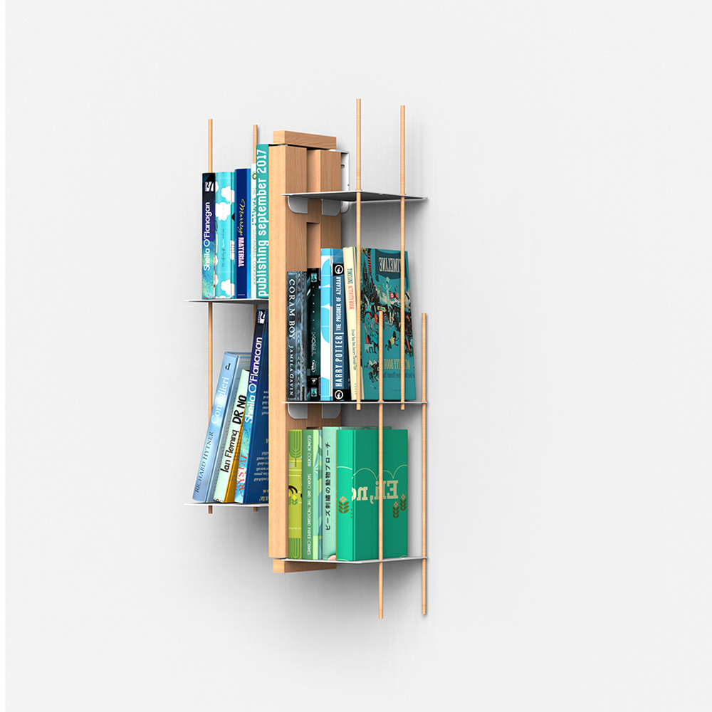 The Zia Veronica Vertical Design Bookshelf Carries Many Books In