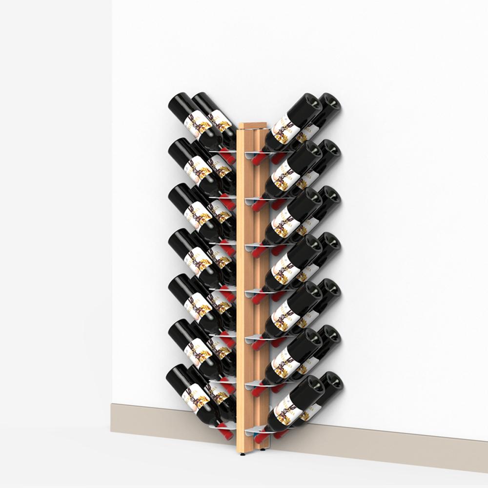 Portabottiglie verticale a parete in massello di faggio - Portabottiglie a muro ...