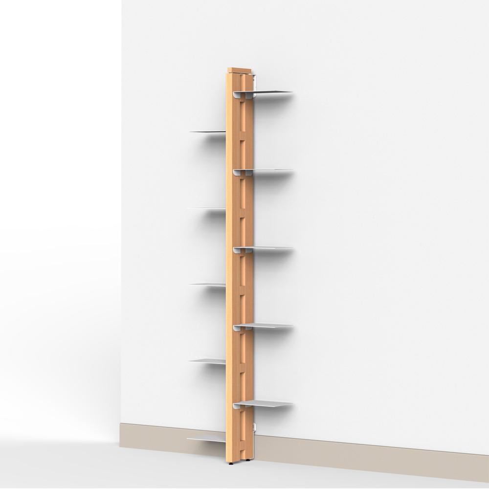 Portapiante verticale a parete in massello di faggio - Parete di legno ...