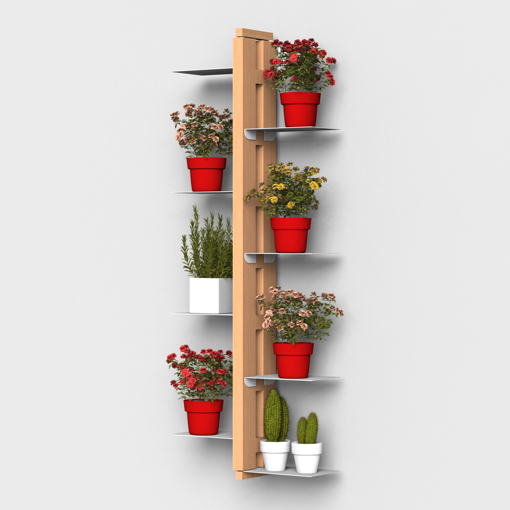 Zia Flora | Indoor wall hung plant holder  | h 105 cm