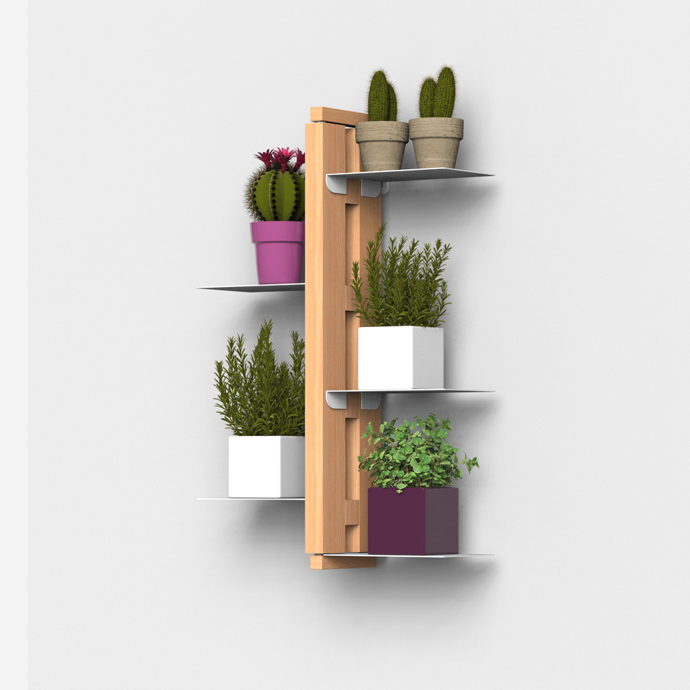 Zia Flora | Indoor wall hung plant holder  | h 60 cm